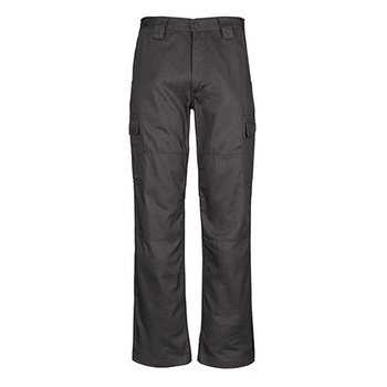 ZW001 - Mens Midweight Drill Cargo Pant Charcoal Front
