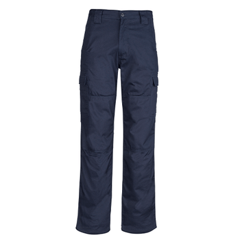 ZW001 - Mens Midweight Drill Cargo Pant Navy Front