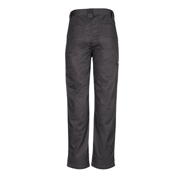 ZW002 - Mens Plain Utility Pant Charcoal Back