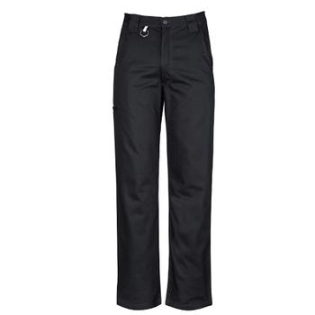 ZW002 - Mens Plain Utility Pant Black Front