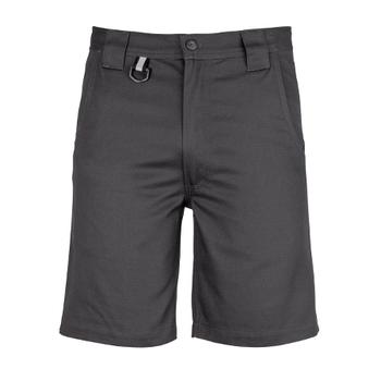 ZW011 - Mens Plain Utility Short Charcoal Front