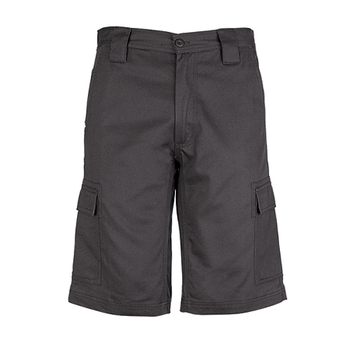 ZW012 - Mens Drill Cargo Short Charcoal Front