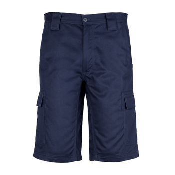 ZW012 - Mens Drill Cargo Short Navy Front
