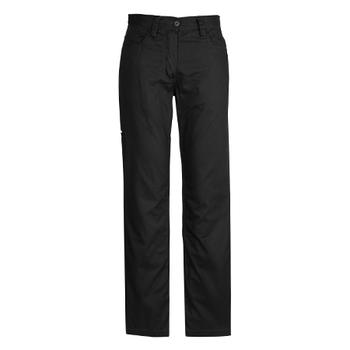 ZWL002 - Womens Plain Utility Pant Black Front
