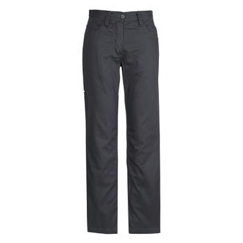 ZWL002 - Womens Plain Utility Pant Charcoal Front