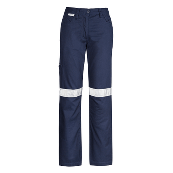 ZWL004 - Womens Taped Utility Pant Navy Front
