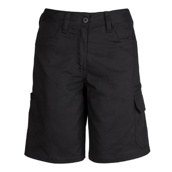 ZWL011 - Womens Plain Utility Short Black Front