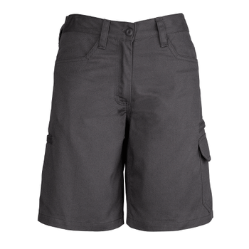 ZWL011 - Womens Plain Utility Short Charcoal Front