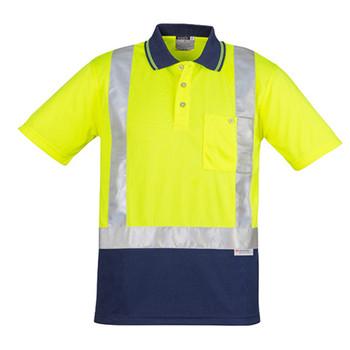 ZH233 - Mens Hi Vis Spliced Polo - Short Sleeve Shoulder Taped