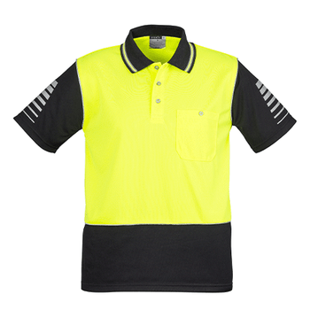 ZH236 - Mens Hi Vis Zone Polo Yellow/Black Front
