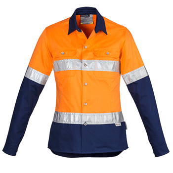 ZWL123 - Womens Hi Vis Spliced Industrial Shirt - Hoop Taped