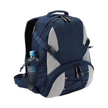 B478 - Outdoor Backpack - Navy/Silver