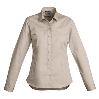ZWL121 - Womens Light Weight Trade L/S Shirt Sand Front