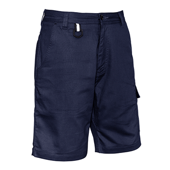 ZS505 - Mens Rugged Cooling Vented Short Navy Front