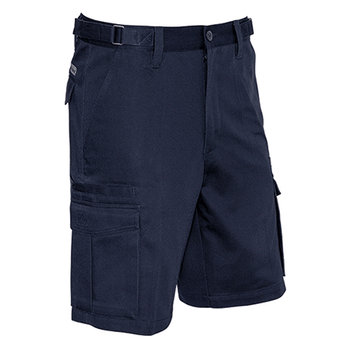 ZS502 - Mens Basic Cargo Short Navy Front