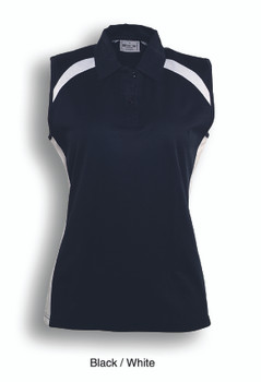 9bb4d58de42c3 CP0931 - Bocini Team Essentials- Ladies Sleeveless Contrast Polo
