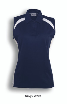 CP0931 - Ladies Sleeveless Contrast Polo