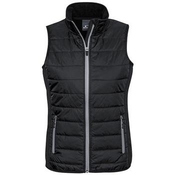 J616L - Ladies Stealth Tech Vest - Black -Silver