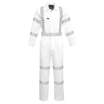ZC620 - Mens Bio Motion X Back Night Work Overall White Front
