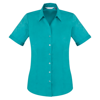 S770LS - Ladies Monaco Short Sleeve Shirt Teal