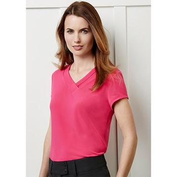 K819LS - Ladies Lana Short Sleeve Top
