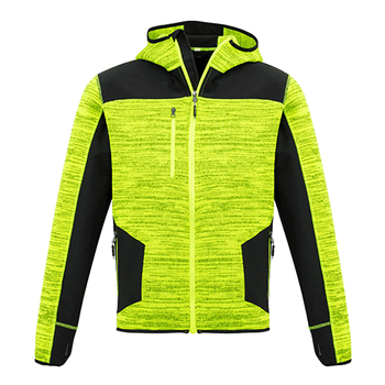 ZT360 - Unisex Streetworx Reinforced Knit Hoodie YELLOW FRONT