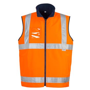 ZV358 - Mens Hi Vis Lightweight Fleece Lined Vest O FRONT