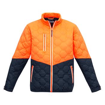 ZJ420 - Unisex Hexagonal Puffer Jacket O/N FRONT