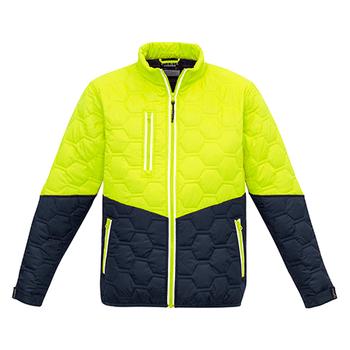 ZJ420 - Unisex Hexagonal Puffer Jacket Y/N FRONT