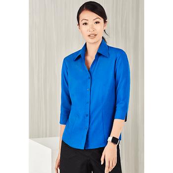 LB3600 - Ladies Plain Oasis 3/4 Sleeve Shirt Display
