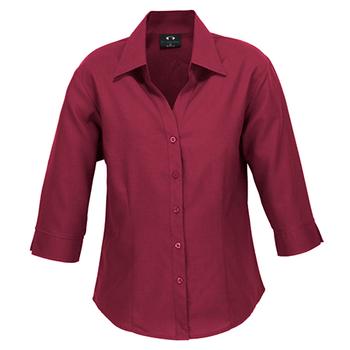LB3600 - Ladies Plain Oasis 3/4 Sleeve Shirt Cherry