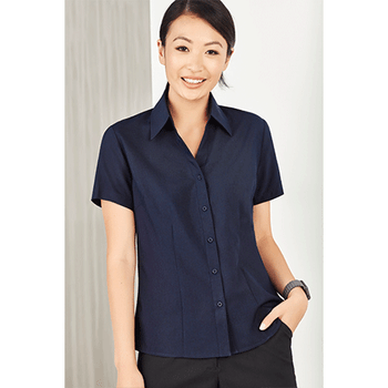 LB3601 - Ladies Plain Oasis Short Sleeve Shirt Display