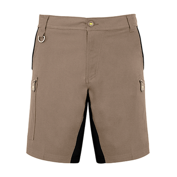 ZS340 - Mens Streetworx Stretch Short Khaki Front