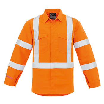 ZW137 - Mens X Back Taped Shirt Orange Front