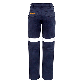 ZP523 - Mens Traditional Style Taped Work Pant Navy Back