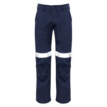 ZP523 - Mens Traditional Style Taped Work Pant Navy Front