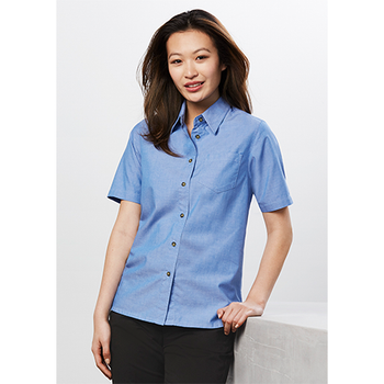 LB6200 - Ladies Wrinkle Free Chambray Short Sleeve Shirt