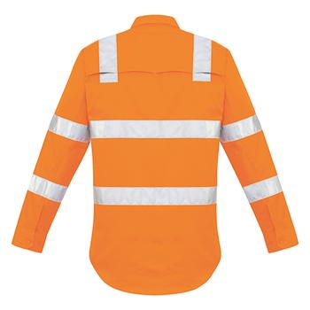 ZW680 - Mens Bio Motion Vic Rail Shirt Orange Back