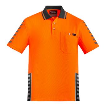 ZH320 - Mens Komodo Polo Orange/Charcoal Front