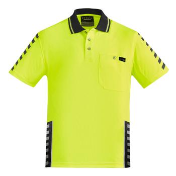 ZH320 - Mens Komodo Polo Yellow/Black Front