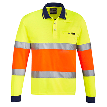 ZH380 - Unisex Bio Motion Taped Polo Yellow/Orange Front