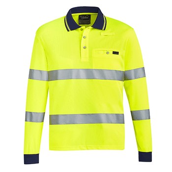 ZH380 - Unisex Bio Motion Taped Polo  Yellow Front