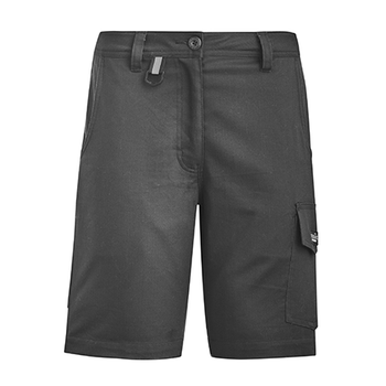 ZS704 - Womens Rugged Cooling Vented Short Charcoal Front