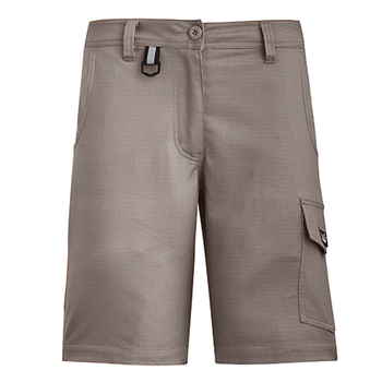 ZS704 - Womens Rugged Cooling Vented Short Khaki Front