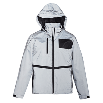 ZJ380 - Unisex Streetworx Reflective Waterproof Jacket - Front
