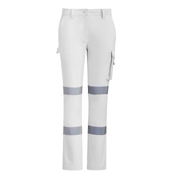 ZP720 - Womens Bio Motion Taped Pant White Front