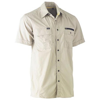 BS1144 - Flex & Move Utility Work Shirt - Short Sleeve - Stone