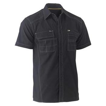BS1144 - Flex & Move Utility Work Shirt - Short Sleeve - Black