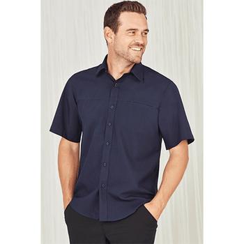 SH3603 - Mens Plain Oasis Short Sleeve Shirt