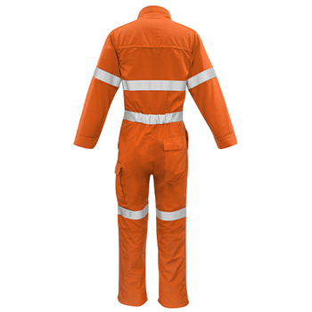 ZC517 - Mens FR Hoop Taped Overall Orange Back